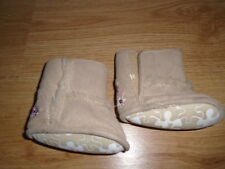 Baby girls beige suede effect and faux fur boots, MATALAN, 0-3 months