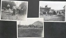 AGRICULTURE / MOISSONNEUSE BATTEUSE / 3 Photos anciennes animées