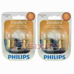 2 pc Philips License Plate Light Bulbs for Cadillac Series Series 60 hw