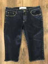 Abercrombie & Fitch Stretch Tapered Jeans 3/4 Shorts Below Knee Size10 W30
