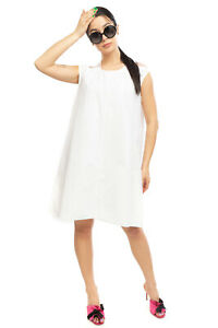FEDERICA TOSI  Tulle Mini Trapeze Dress Size L Cap Sleeve Keyhole Made in Italy
