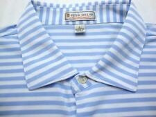 PETER MILLAR SUMMER COMFORT Stripe Short Sleeve Polo Shirt L
