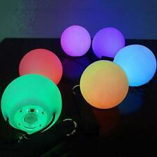 LED Multi-Colored Glow POI Thrown Balls Light Up For Belly Dance Hand Props  WT