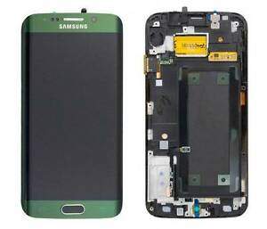 Genuine Green Samsung SM-G925F Galaxy S6 Edge Screen Amoled LCD Frame Display