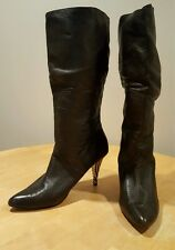 VERO CUOIO Lovely People Brown Striped Stiletto Pull On Tall Boots 10M