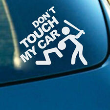 Adesivo sticker vinile DON'T TOUCH MY CAR auto moto scooter tuning ARGENTO