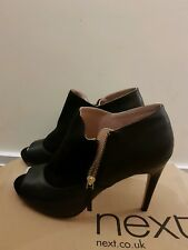 Black Next Peep Toe Boots Size 42