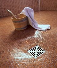 Bodenbelag Wandbelag für begehbare Duschen und Outdoor 30x30cm 6mm Korkmosaik