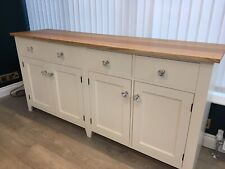 Handmade Sideboard With Oak Top And Engraving Details