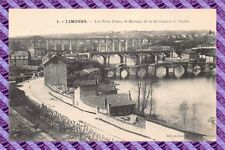 CPA 87 - LIMOGES Los Trois puentes San Martial de la revolution y Viaducto