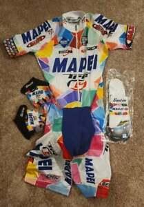 SANTINI MAPEI Skinsuit Cycling kit Excellent condition RARE size XXL