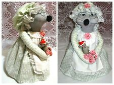 Sock Monkey Granny Mouse Handmade OOAK Decor Large Holly Hobbie Look Dress Doll