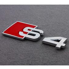3D Aluminium Alliage De Chrome S4 S line voiture Queue autocollant emblème insigne Pour Audi A4 S55