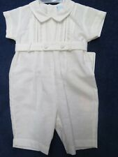 Will'beth boys 3 mo. one piece creamy white, new w/tags, cotton