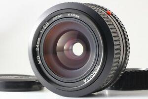 [NearMint] Minolta New MD 24mm f2.8 Wide Angle Prime Lens JAPAN