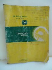 Vintage John Deere 68 Riding Lawn Mower 120,001 Operators Manual Om-M83273