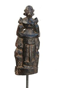 1850's Antique Beautiful Hand Carved Wooden Tribal Goddess Doll / Figurine # 1