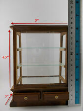 Small Vintage Teak Wood Cabinet Craft Handmade Carved Thai Cupboard Furniture