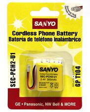 10 PCS SANYO SEC-PCH2-U1 CORDLESS PHONE BATTERY SEC PCH2 U1 Ni-Cd BATTERIES