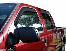 WINDOW VENT VISORS In Channel 194953 For: FORD F-250 SD CREW CAB 1999-2016
