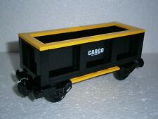 LEGO® Eisenbahn Transportwaggon schwarz/gelb für 4512, 7898, 7939, 60052 - NEU 1