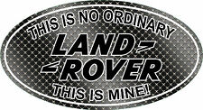 Printed Fun Land Rover Badge Defender 90 TD5 Sticker #1