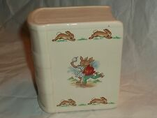 Royal Doulton Bunnykins Porcelain Book Coin Bank Gentle Use with Stopper