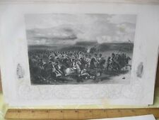 Vintage Print,CHARGE CAVALRY AT BALAKLAVA,British Land+Naval Battles,1854