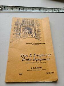 Type K Freight-Car Brake Equipment by JW Harding 1946