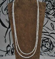 small Genuine Natural Freshwater Pearl Single Strand Necklace Long Wrap