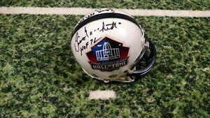 Lenny Moore/ Marchetti/ Berry  SIGNED Football Hall of Fame Mini Helmet  COA