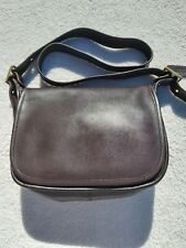 Vintage Coach 9951 Chocolate Brown Saddle Crossbody Flap Patricia Legacy Bag