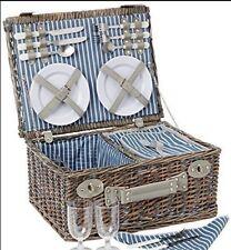 Nuevo Yellowstone 4 persona Mimbre Cesta de picnic cesta. platos, cubiertos Toalla Etc