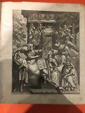 Alte Bibel  Bibel antik  Icones Bibilcae Melchior Küsel Kusel Melchior 17. JH
