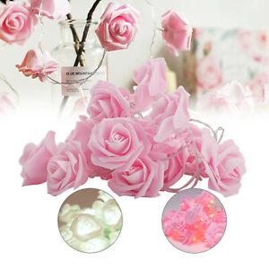 2.2M 20LED flower rose  string light lover valentine anniversary Wedding Decor