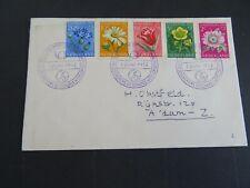 Nederland 583/587 met stempel bezoek A'dam deelnemers congres WPV 7 juni 1952