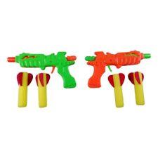 Pistolet Fléchettes Mousse + 2 Flèches Souples Multicolores Jouet Adresse Enfant