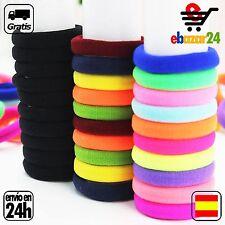 30 Gomas de Colores del Pelo Goma Elasticas Coleta  *Envío GRATIS desde España*