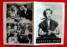 LUXURY LINER 1949 GEORGE BRENT JANE POWELL RICHARD WHORF RARE EXYU MOVIE PROGRAM