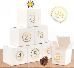 24 Stk. Geschenkboxen Hochzeit mit Aufkleber Gastgeschenke Box Adventskalender