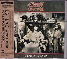 Free Shipping Ozzy Osbourne No Rest For The Wicked CD Japan Obi Bonus Track 25DP