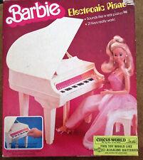 BARBIE ELECTRONIC PIANO - BABY GRAND Piano w BENCH & More! (1981 Mattel)