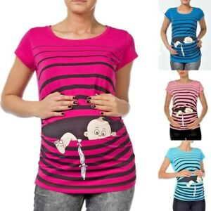Umstandsmode T-Shirt Motiv Schwangerschaft Geschenk Baby Flucht Süßen Aufdruck