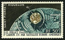 St Pierre & Miquelon C26, MNH. Telstar. Television connection US & Europe, 1962