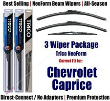 3pk Wipers Front & Rear NeoForm - fit 1991-1996 Chevrolet Caprice 16220x2/30160