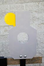 "AR500 Steel Reactive 5"" Paddle Silhouette Target Kit (21""x12"") (Base Included)"