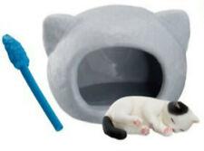 Z132 Epoch Animal Capsule Kitten and Cat  Neko's Ear house Gashapon Figure New