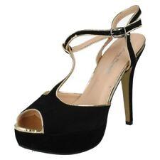 Calzado de mujer plataformas de color principal negro talla 38.5