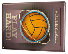 Tin Sign XXL Sports  Volleyball