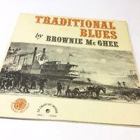 Brownie McGhee 'Traditional Blues' Folkways FWX-M-52421 Vinyl LP VG/VG+